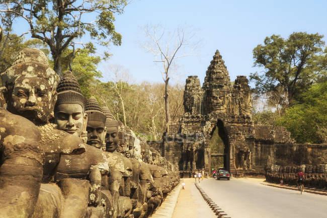 Cambodia, Angkor Wat temple entrance — Stock Photo