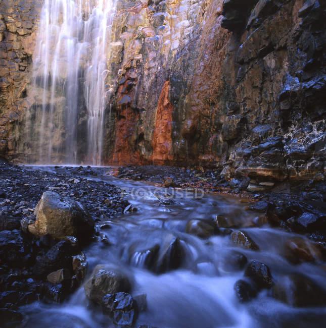 Cascada Colorada, Parque Nacional de la Caldera de Taburiente, La Palma, Canary islands, Islas Canarias, Spain, Espaa Europe — Stock Photo