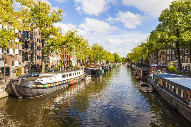 Scenic cityscape of Amsterdam old town, Netherlands — Stock Photo