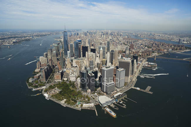 Fotografia aerea di new york city e isola di manhattan for New york dall alto