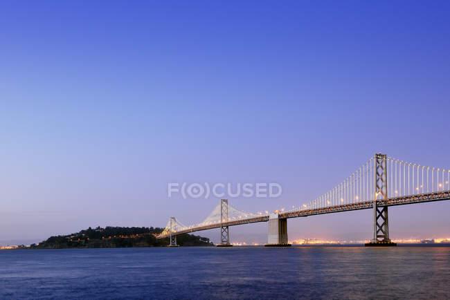 É.-u., Oakland Bay Bridge de San Francisco — Photo de stock