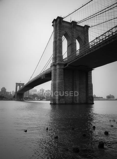 USA, New York und Brooklyn Bridge — Stockfoto