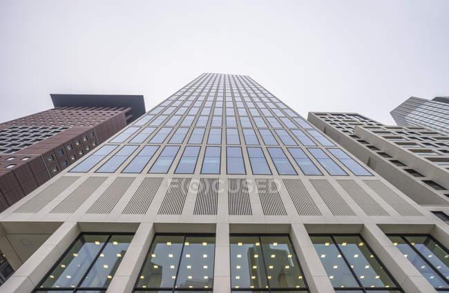 Deutschland, Frankfurt, Fassaden der Wolkenkratzer im Bankenviertel — Stockfoto