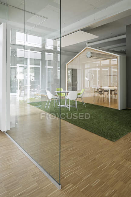 View of office interior Duesseldorf, NRW, Germany — Stock Photo
