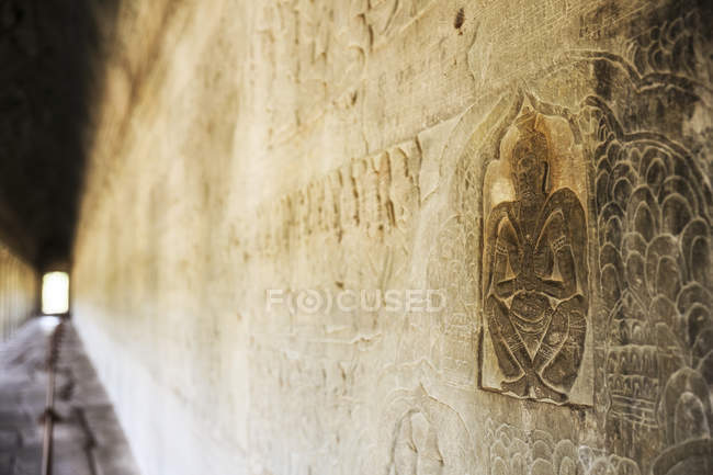 Cambogia, rilievo del tempio di Angkor Wat — Foto stock