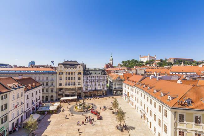 Переглянути Старого міста Вентура, Братислава, Словаччина — стокове фото