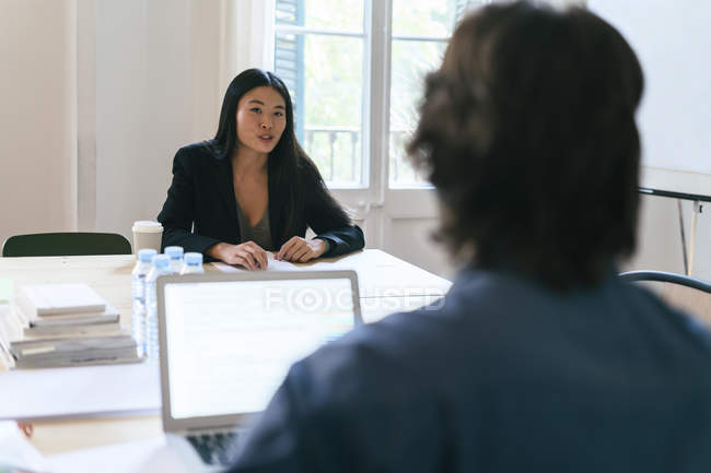 Businesspeople working together in office — Stock Photo
