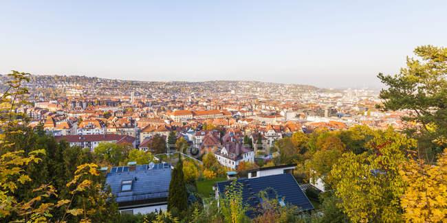 Alemania, Stuttgart, vistas en la parte occidental de la ciudad - foto de stock