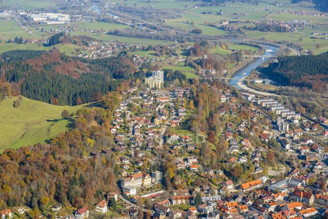 Alemania, Baviera, Immenstadt, townscape de cuerno Immenstaedter - foto de stock