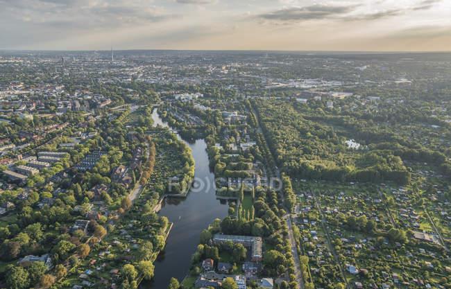 Eppendorfer Moor nature reserve in Hamburg - foto de stock