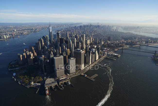 Aerial photograph of New York City, USA — Stock Photo