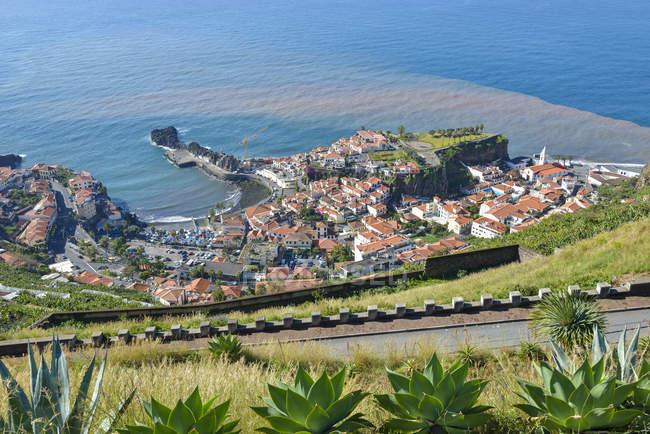 Vista de Portugal, Madeira, de câmara de Lobos, Costa Sul — Fotografia de Stock
