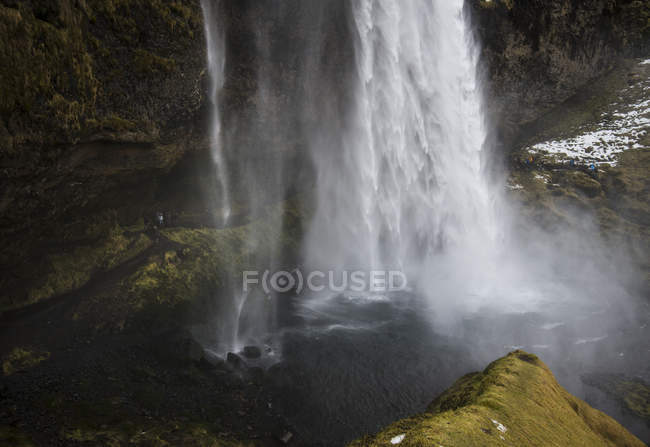 Daytime view of Seljalandsfoss waterfall in Spain — Stock Photo