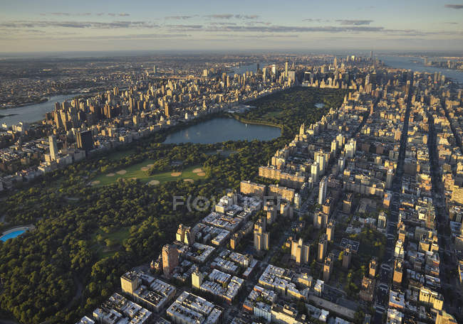 Luftaufnahme des Central Park in Manhattan, New York City, New York, USA — Stockfoto
