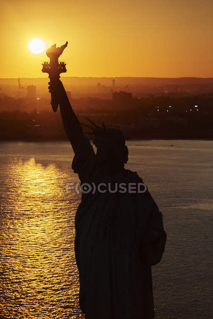 USA, New York State, New York City, vue de la Statue de la liberté — Photo de stock