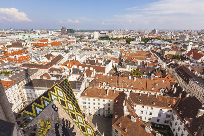 Austria, Vienna, roofs of traditional buildings in old city — Stock Photo