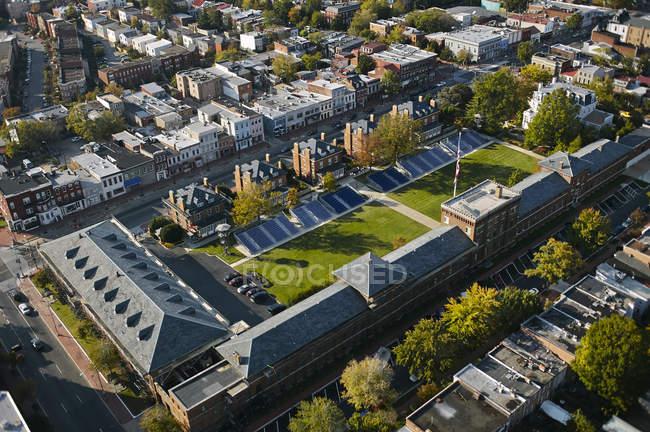 USA, Washington, aerial view of the Marine Corps Barracks — Stock Photo