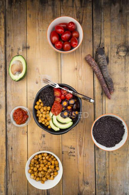 Bowl of black amaranth — Stock Photo