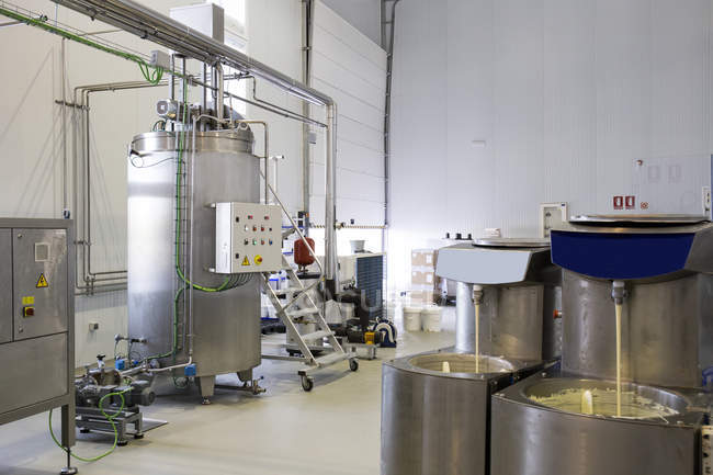 Interior of a chocolate factory — Stock Photo