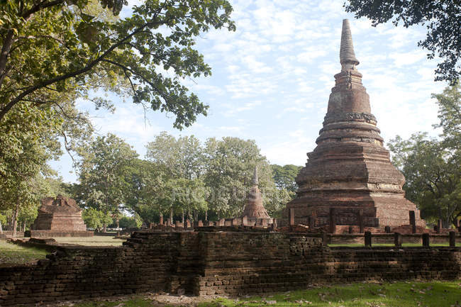 Thailand, Kamphaeng Phet, Ruins of Chakangrao, UNESCO World Heritage — Stock Photo