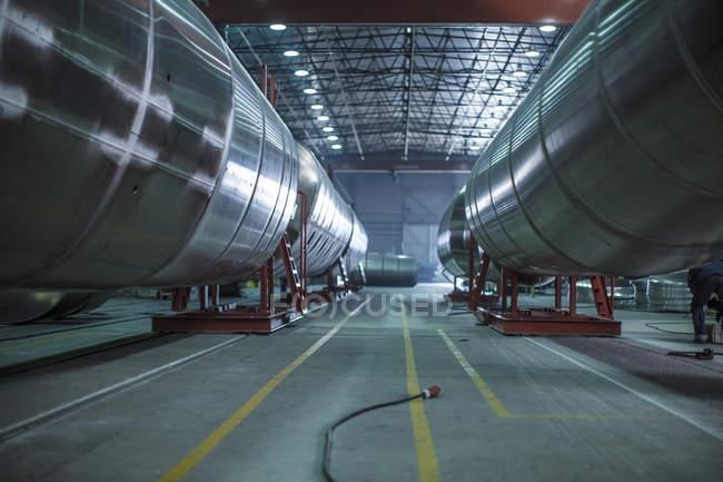 Кейптаун, Південна Африка, великий сталеві танкерів заводі — стокове фото