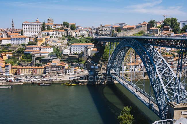 Oporto e fiume Douro — Foto stock