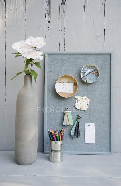 Mood board with photos — Stock Photo
