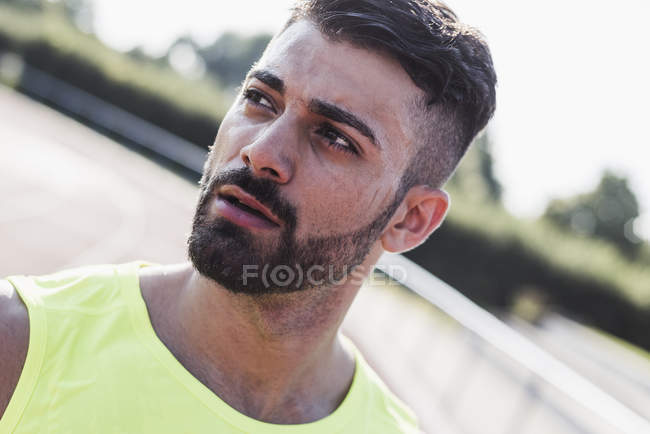 Portrait of confident athlete — Stock Photo