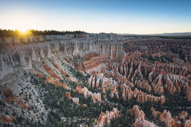 Parque Nacional Bryce Canyon, ao pôr do sol — Fotografia de Stock
