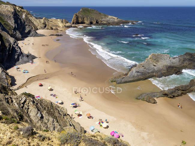 Praia de Alteirinhos em Portugal — Fotografia de Stock