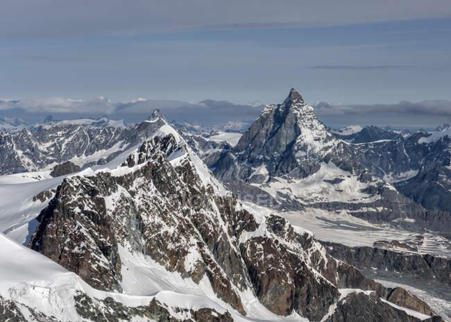 Zermatt and the Matterhorn, Alps, Gressoney, Itália — Fotografia de Stock
