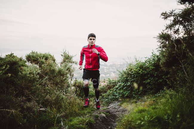 Trail runner homme formation — Photo de stock