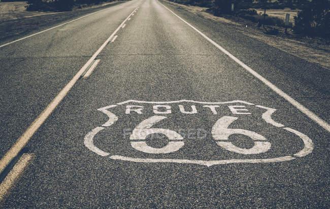 Vue de vide route 66 — Photo de stock