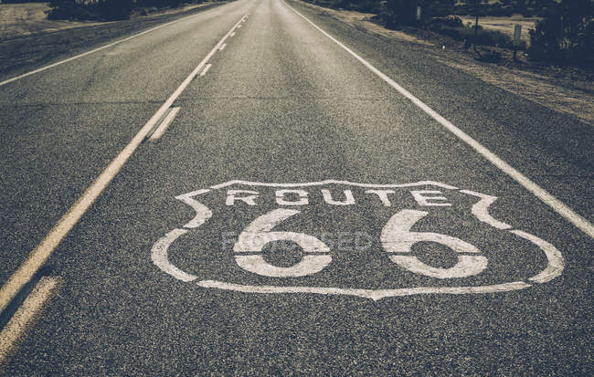 View of empty route 66 — Stock Photo