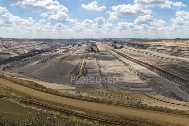 Allemagne, Grevenbroich, mine à ciel ouvert Garzweiler — Photo de stock