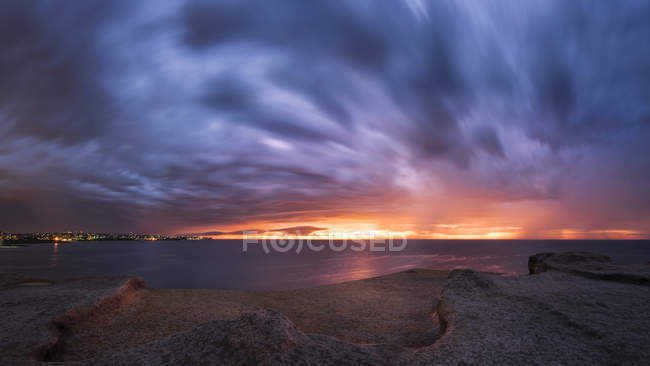 Maroubra, côte au coucher du soleil — Photo de stock