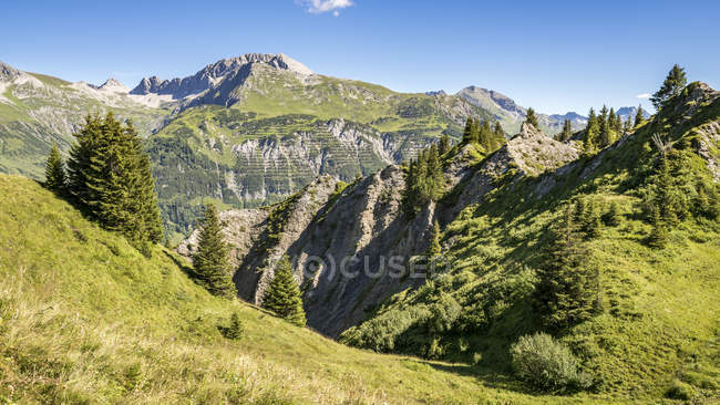Austria, Vorarlberg, Lechtal Alps, Gipsloecher nature reserve, Grubenalpe — Photo de stock