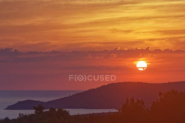 Montagne Glavia au coucher du soleil — Photo de stock