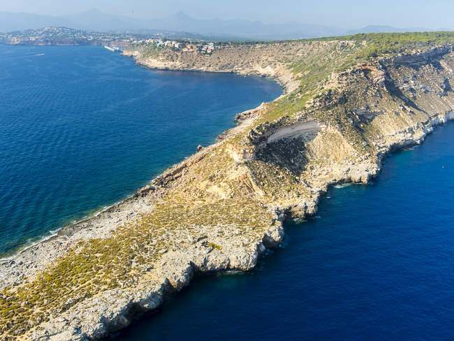 Spagna, Maiorca, Palma di Maiorca, Vista aerea, Cala Rafeubetx — Foto stock