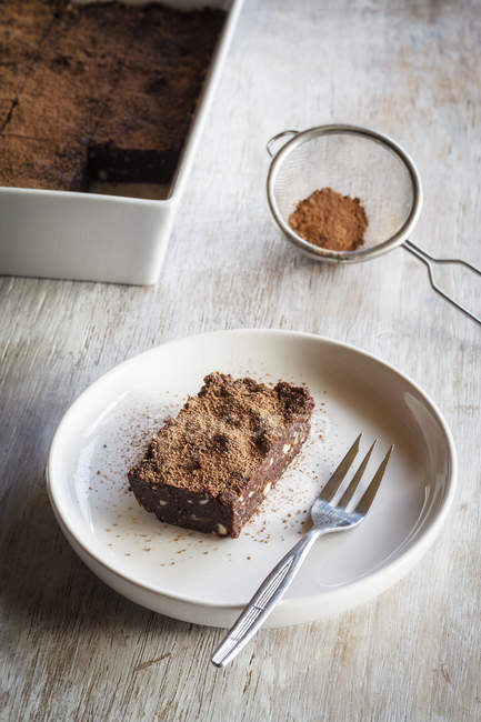 Rohkost-brownies — Stockfoto