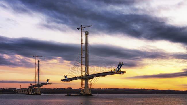 Construction du pont franchissant Queensferry — Photo de stock