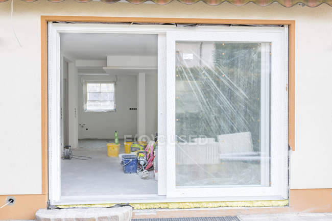 Construction site of house — Stock Photo
