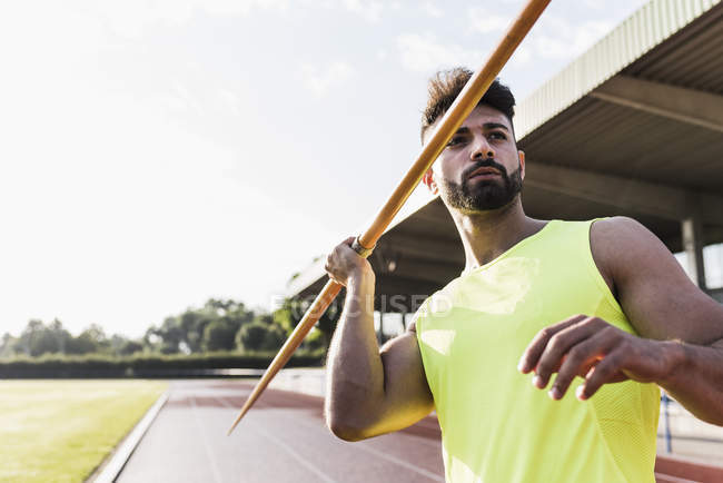 Спортивний людина Метання списа — стокове фото