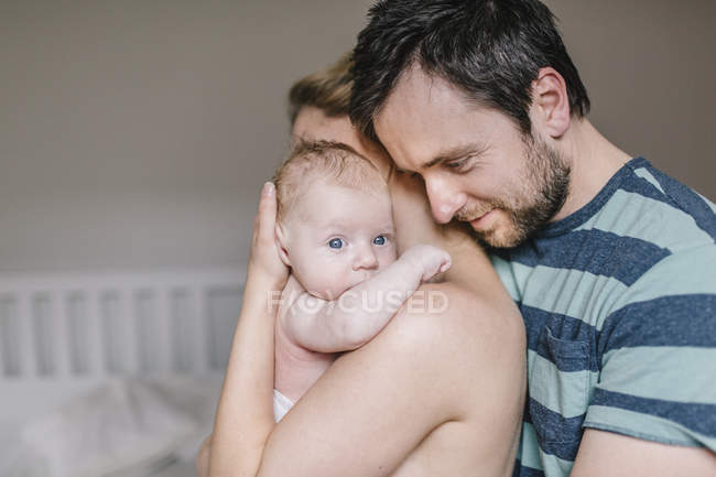 Mother and father with baby boy — Stock Photo
