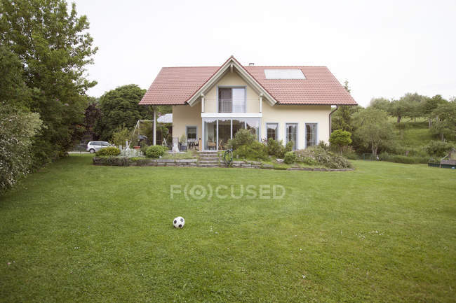 Residential house with garden — Stock Photo