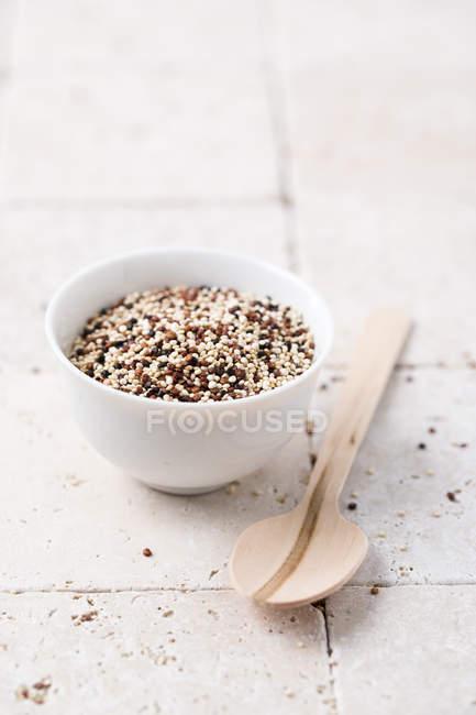Ciotola di quinoa tricolore — Foto stock