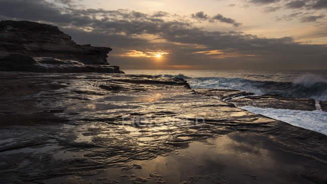 Maroubra, costa la sera — Foto stock