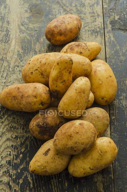 Frische Kartoffeln wachsartige — Stockfoto