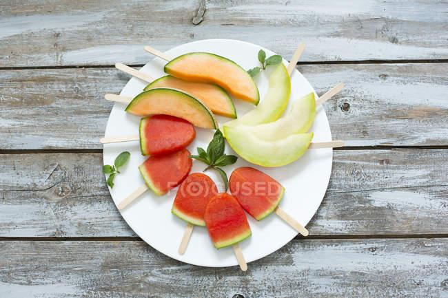 Placa de gelados caseiros melancia — Fotografia de Stock