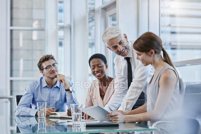 Business people in a meeting in modern office — Stock Photo